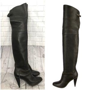 Balenciaga over the knee dark brown boots Sz 37.5